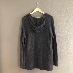 American Eagle Outfitters Sweaters - American Eagle — Gray Hooded Knit Cardigan